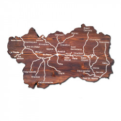 Mappa della Valle d'Aosta