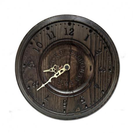 Orologio in castagno tinta wenge