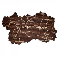 Cartina della Valle d'Aosta